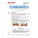 Sharp MX-5500N, MX-6200N, MX-7000N (serv.man194) Technical Bulletin