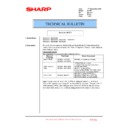Sharp MX-5500N, MX-6200N, MX-7000N (serv.man212) Technical Bulletin
