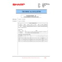 Sharp MX-6500N, MX-7500N (serv.man100) Technical Bulletin