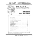 Sharp MX-6500N, MX-7500N (serv.man13) Service Manual