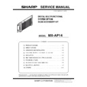 Sharp MX-AP14 (serv.man3) Service Manual