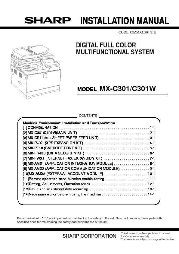 Sharp mx c301 mx c301w servn6 service manual view online or mx c301 mx c301w servn6 service manual publicscrutiny Choice Image