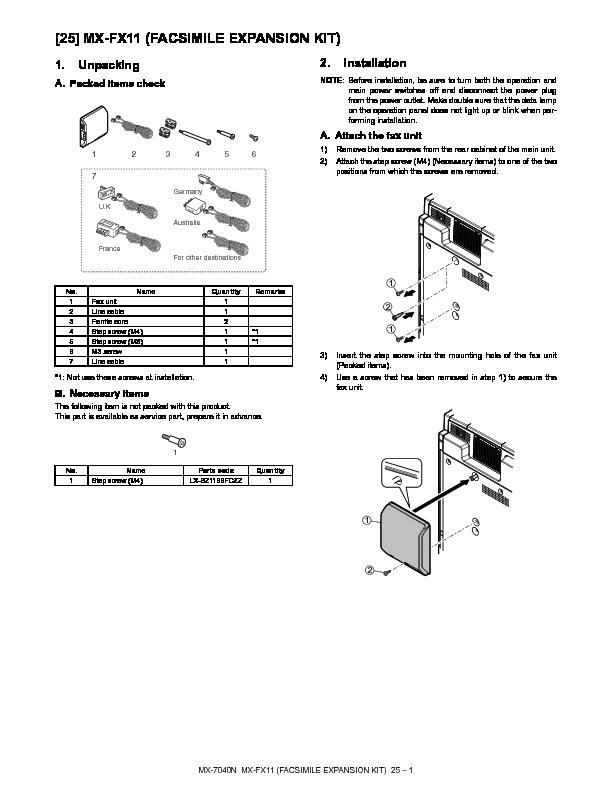 Sharp mx fx11 servn4 service manual view online or download mx fx11 servn4 service manual publicscrutiny Choice Image