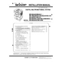 Sharp MX-M266N, MX-M316N, MX-M356N (serv.man5) Service Manual