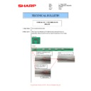 Sharp MX-M266N, MX-M316N, MX-M356N (serv.man85) Technical Bulletin