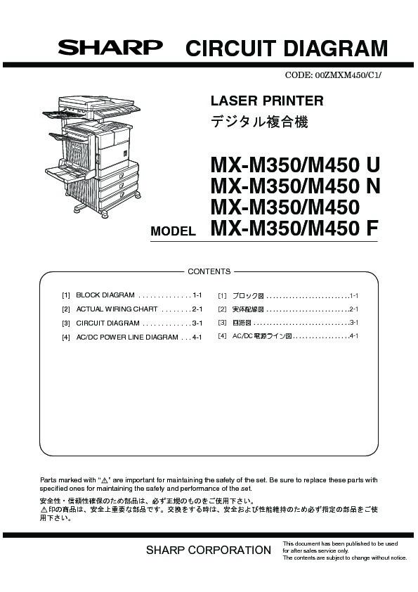 Sharp MXM350N MXM350U MXM450N MXM450U SERVMAN28 Driver