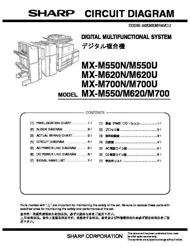 Sharp MXM550U MXM620U SERVMAN13 Driver Update View online