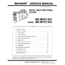 Sharp MX-M623U, MX-M753U (serv.man10) Service Manual