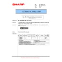 Sharp MX-M623U, MX-M753U (serv.man42) Technical Bulletin