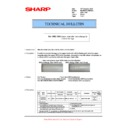 Sharp MX-M623U, MX-M753U (serv.man45) Technical Bulletin