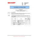 Sharp MX-M623U, MX-M753U (serv.man52) Technical Bulletin