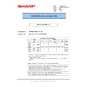 Sharp MX-M850 (serv.man74) Technical Bulletin