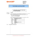 Sharp MX-M850 (serv.man98) Technical Bulletin