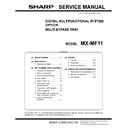 Sharp MX-MF11 (serv.man5) Service Manual