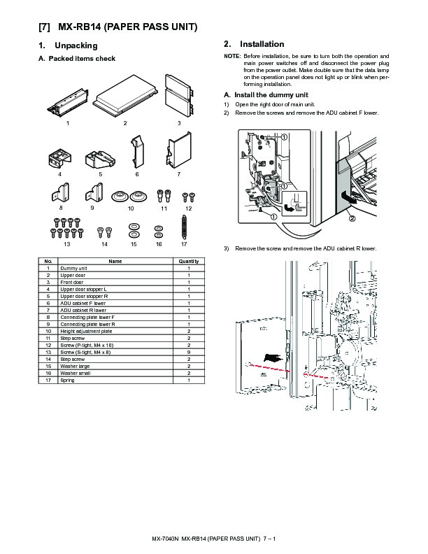 Sharp mx rb14 servn3 service manual view online or download mx rb14 servn3 service manual publicscrutiny Choice Image