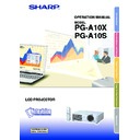 Sharp PG-A10X (serv.man28) User Guide / Operation Manual