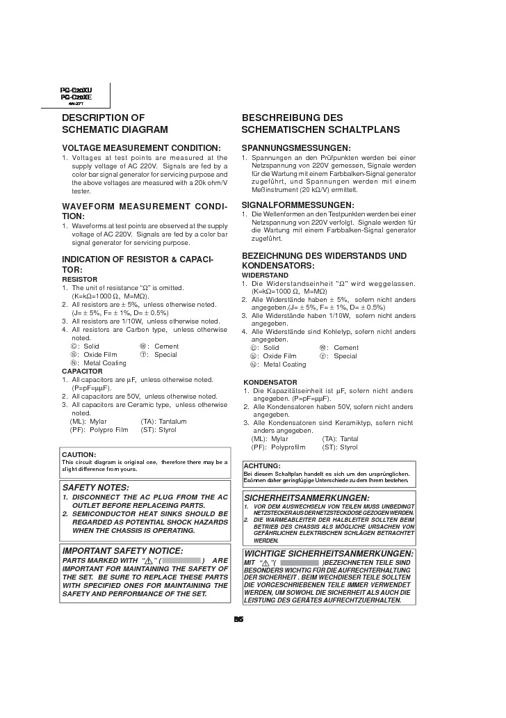 Sharp PG-C20XE (SERV.MAN14) Service Manual — View online or ...