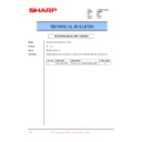 Sharp PG-M15 (serv.man13) Technical Bulletin