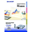 Sharp PG-M20X (serv.man23) User Guide / Operation Manual
