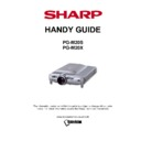 Sharp PG-M20X Handy Guide