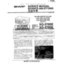 Sharp XG-3785E Service Manual