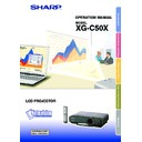 Sharp XG-C50XE (serv.man28) User Guide / Operation Manual