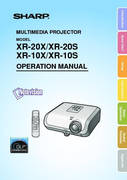 sharp xr 10x serv man29 user guide operation manual view rh servlib com Sharp Notevision Projector sharp notevision xr-10x-l manual