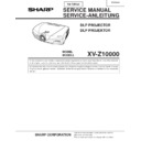 Sharp XV-Z10000 (serv.man3) Service Manual
