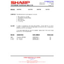 Sharp 28JW-73H (serv.man31) Technical Bulletin