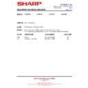 Sharp 28JW-73H (serv.man37) Technical Bulletin