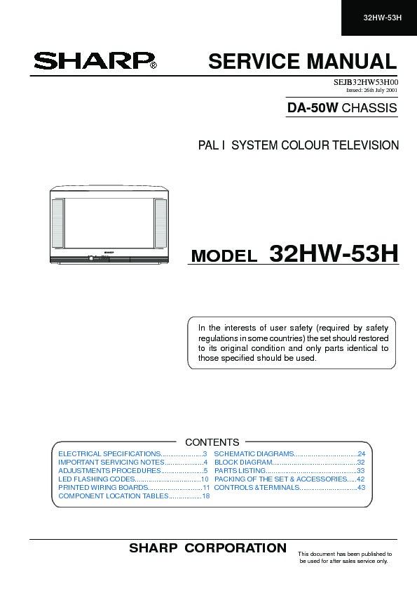 sharp 32hw 53 serv man4 service manual view online or download rh servlib com manual da tv sharp aquos manuel de smart tv sharp