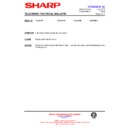 Sharp CV-2123H (serv.man12) Technical Bulletin