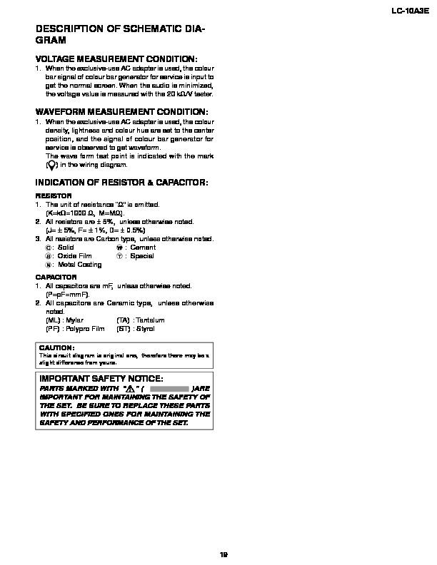 Sharp LC10A3E SERVMAN4 Service Manual View online or Download