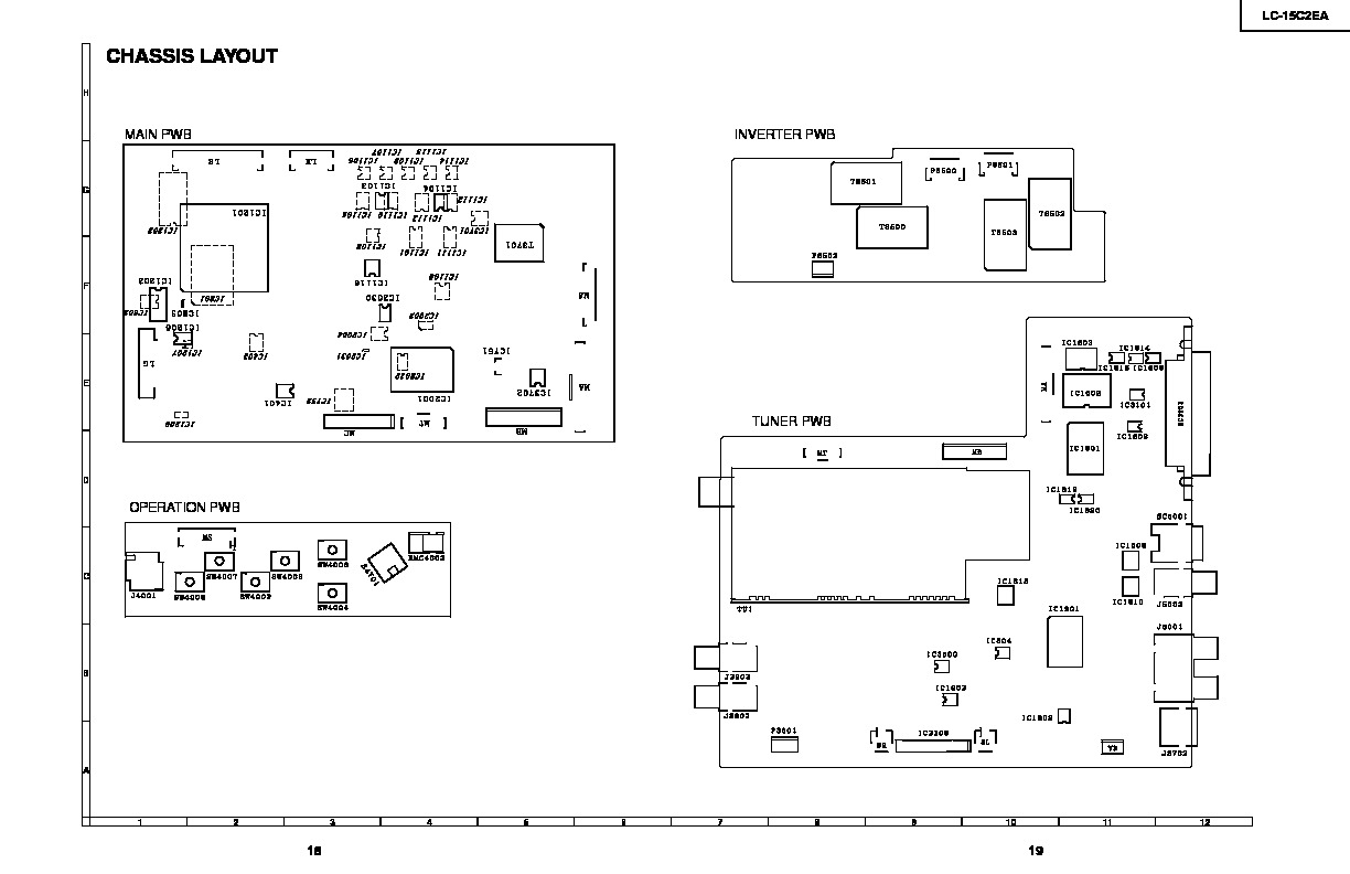 Sharp lc 15c2ea servn6 service manual view online or download lc 15c2ea servn6 chassis layout block diagram and wiring diagram p18 23 sharp tv service manual repair manual asfbconference2016 Gallery