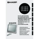 Sharp LC-15E1E (serv.man25) User Guide / Operation Manual
