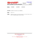 Sharp LC-26LE320E (serv.man6) Technical Bulletin