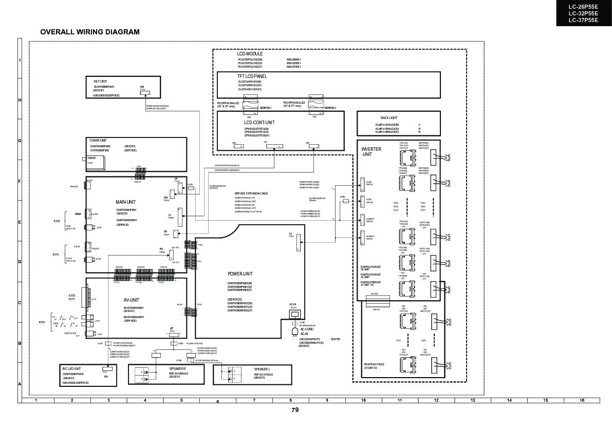 Sharp lc 26p55e servn14 service manual view online or lc 26p55e servn14 overall wiring diagrams sharp tv service manual repair manual asfbconference2016 Gallery