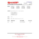 Sharp LC-26SA1E (serv.man10) Technical Bulletin