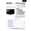 Sharp LC-32FH510E Service Manual