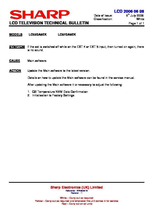 sharp lc 32ga8ek serv man47 technical bulletin view online or rh servlib com Manual Book HP Owner Manuals