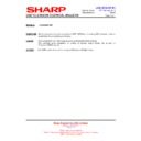 Sharp LC-32LE631E (serv.man10) Technical Bulletin
