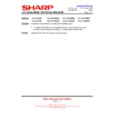 Sharp LC-32LE700E (serv.man18) Technical Bulletin