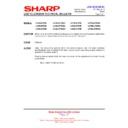 Sharp LC-32LE700E (serv.man20) Technical Bulletin