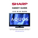 Sharp LC-32LE700E Handy Guide
