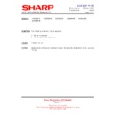 Sharp LC-32SA1E (serv.man9) Technical Bulletin