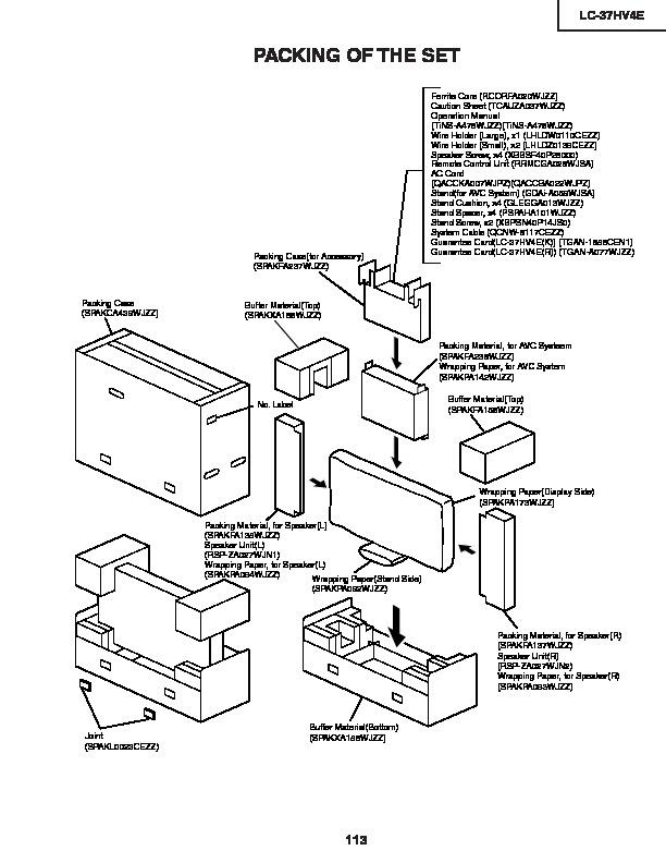 Sharp Lc 37hv4e Serv Man14 Service Manual