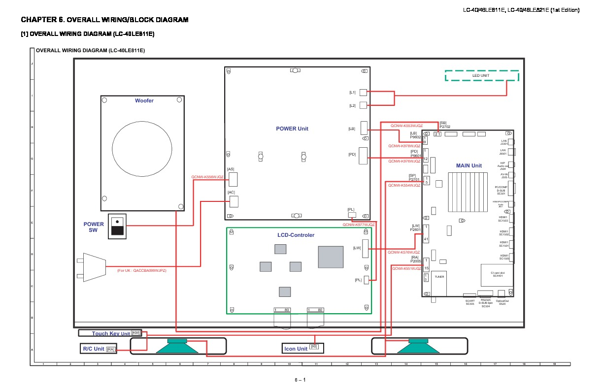Sharp Lc 40le821e Servman12 Service Manual View Online Or H 264 Block Diagram Overall Wiring Tv Repair