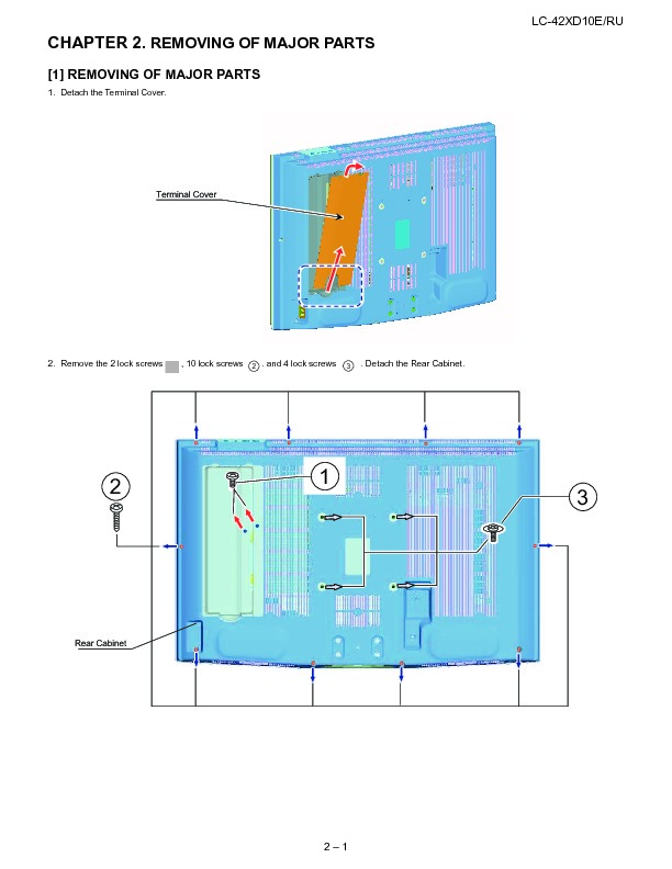 Sharp LC-42XD10E (SERV.MAN19) Technical Bulletin — View online or ...