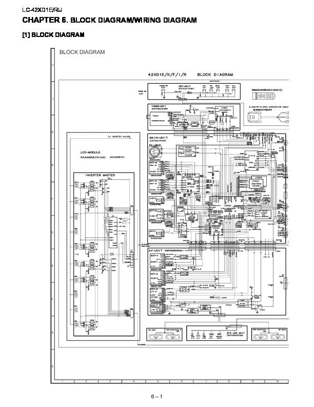 Sharp Lc 42xd1e Serv Man8 Service Manual View Online Or Download Repair Manual Block Diagram Wiring Diagram
