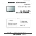 Sharp LC-46DH66 (serv.man9) Parts Guide